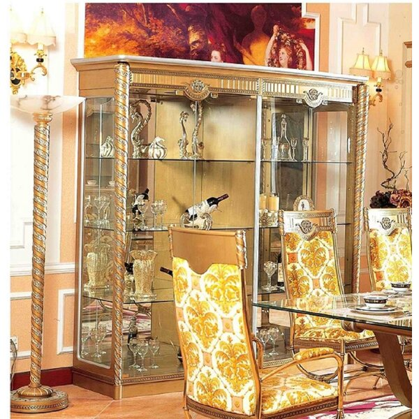 Moseley Lighted Curio Cabinet by Astoria Grand
