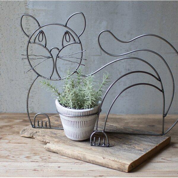 Castanon Wire and Clay Cat Pot Planter by Ebern Designs