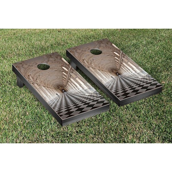 Marble Columns Themed Cornhole Game Set by Victory Tailgate