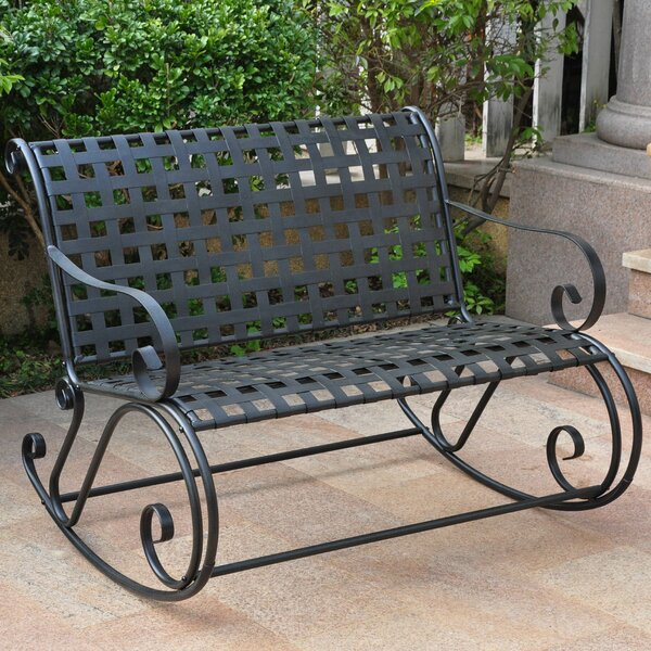 Snowberry Scroll Double Patio Rocker by Three Posts
