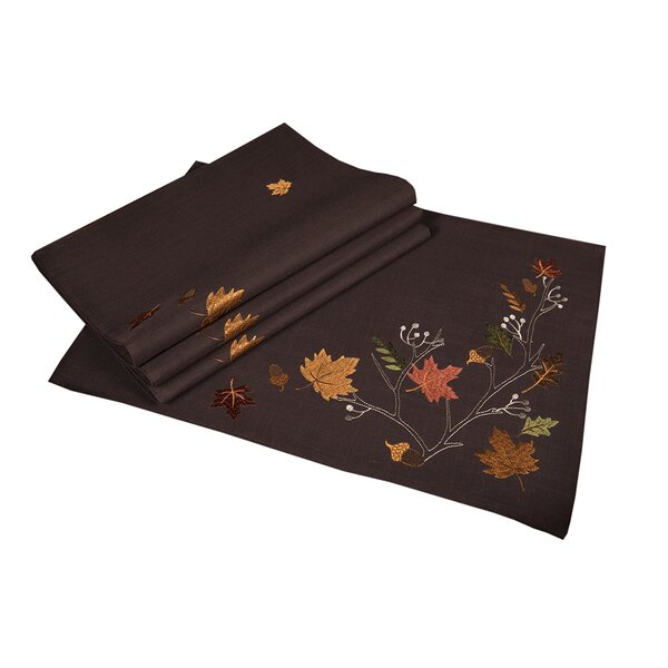Dresden Branches Embroidered Fall Placemat (Set of 4) by Red Barrel Studio