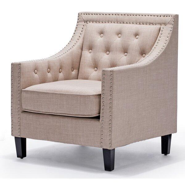 Wickline Linen Armchair by Charlton Home