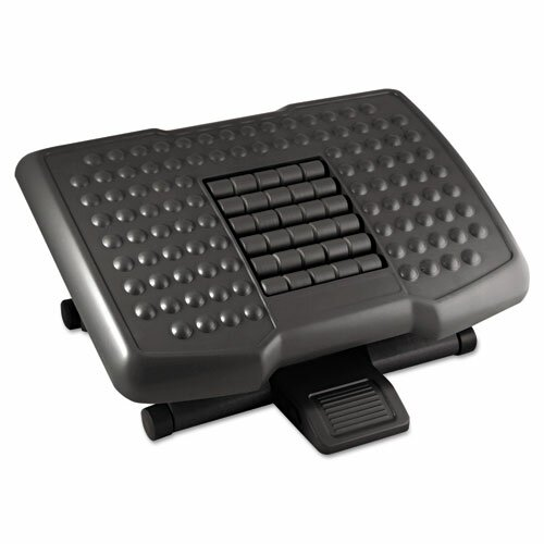 Premium Adjustable Footrest with Rollers by Kantek