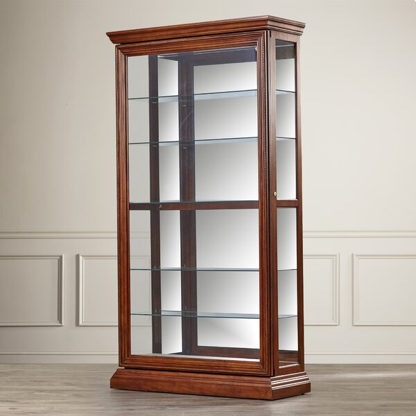 Solari Lighted Curio Cabinet by Darby Home Co