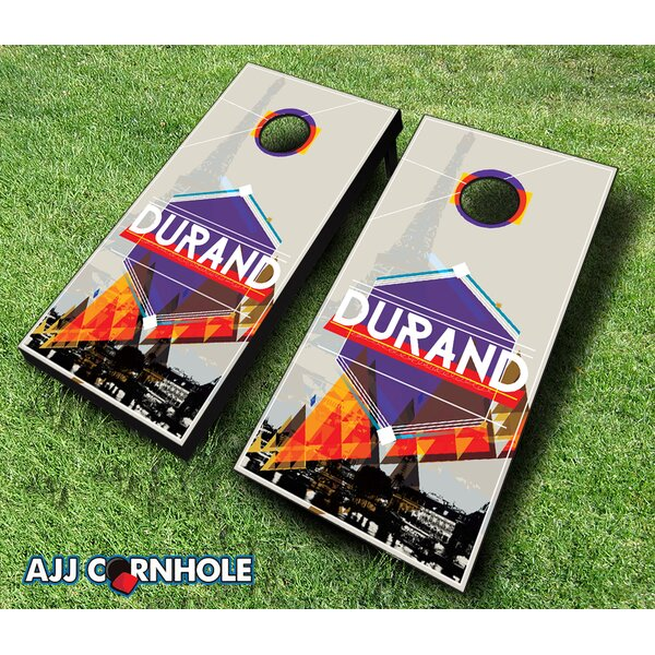 10 Piece French Surname Cornhole Set by AJJ Cornhole