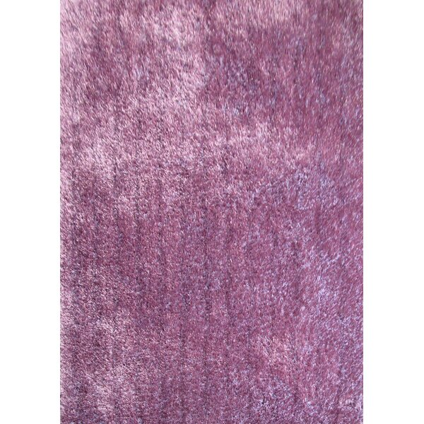 Shaggy Viscose Solid Lavender Area Rug by Rug Factory Plus
