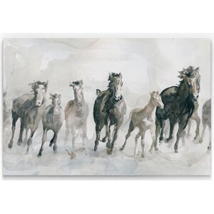 'Running Wild' Print on Wrapped Canvas by Alcott Hill