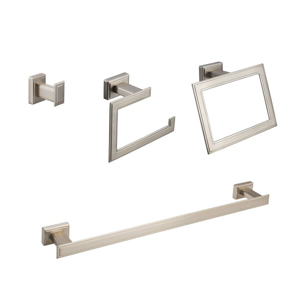 Carraway 4 Piece Bathroom Hardware Set by Maykke