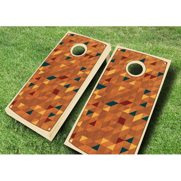 Retro Stained Riser Cornhole Set by AJJ Cornhole