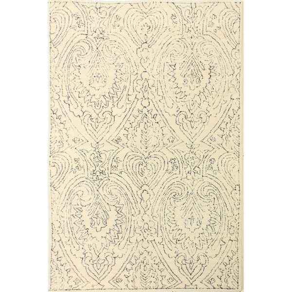 Kory Hand-Tufted Ivory/Blue Area Rug by Mistana