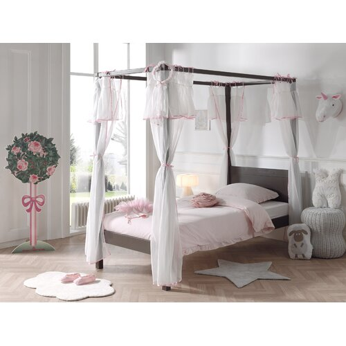 Beale European Single (90 x 200cm) Four Poster Bed with Curtain Isabelle and Max