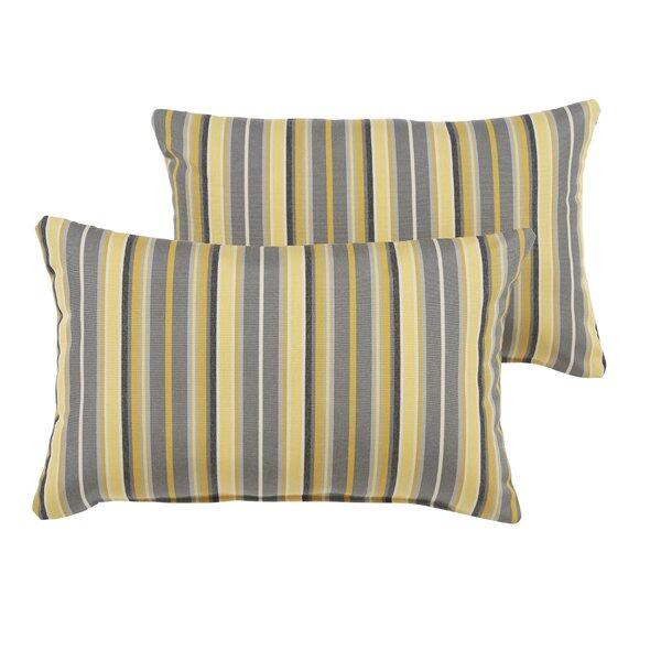 Delacruz Sunbrella Knife Edge Lumbar Pillow Set by Darby Home Co