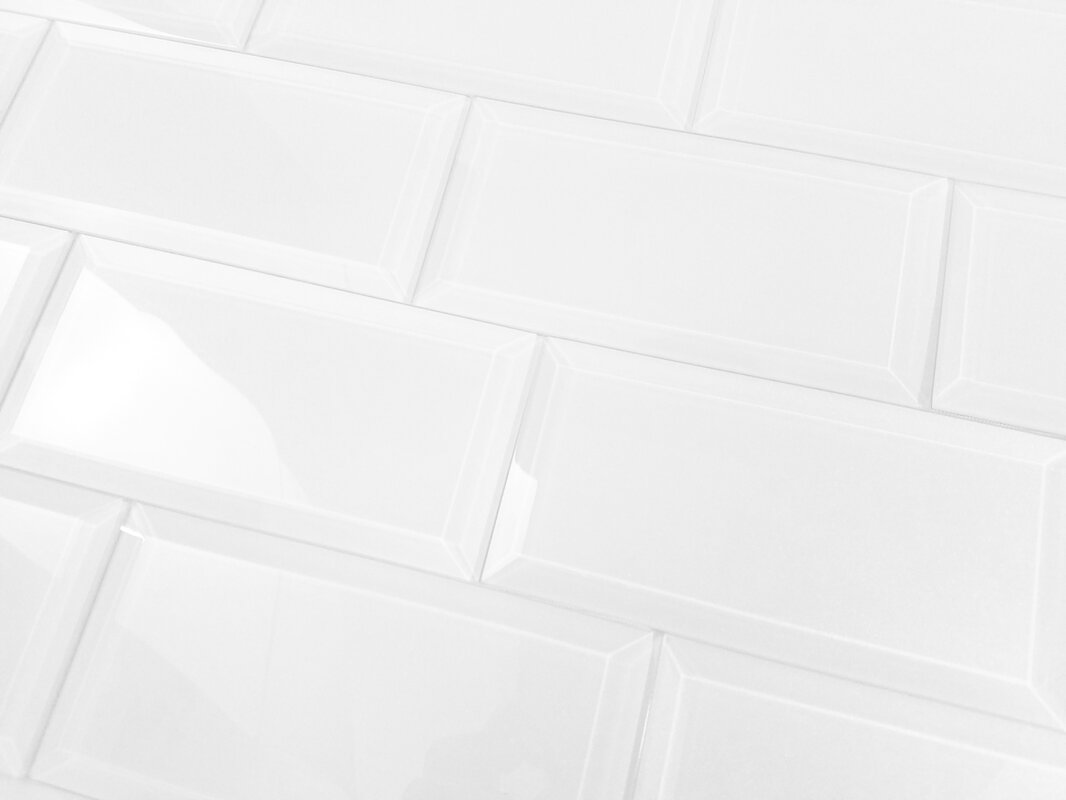 Abolos frosted elegance 3 x 6 glass subway tile in glossy white frosted elegance 3 x 6 glass subway tile in glossy white dailygadgetfo Gallery