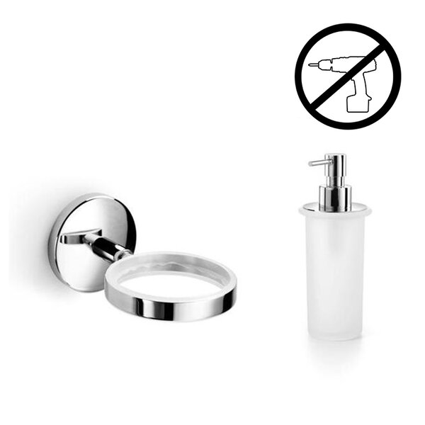 Spritz Self-Adhesive Soap Dispenser by WS Bath Collections