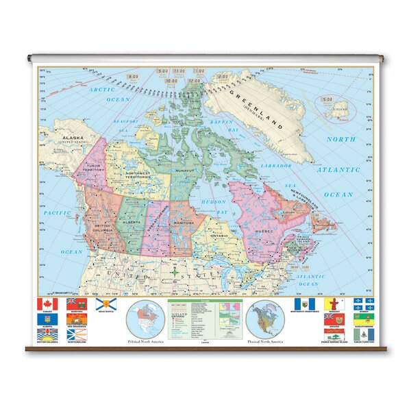 Essential Wall Map - Canada by Universal Map