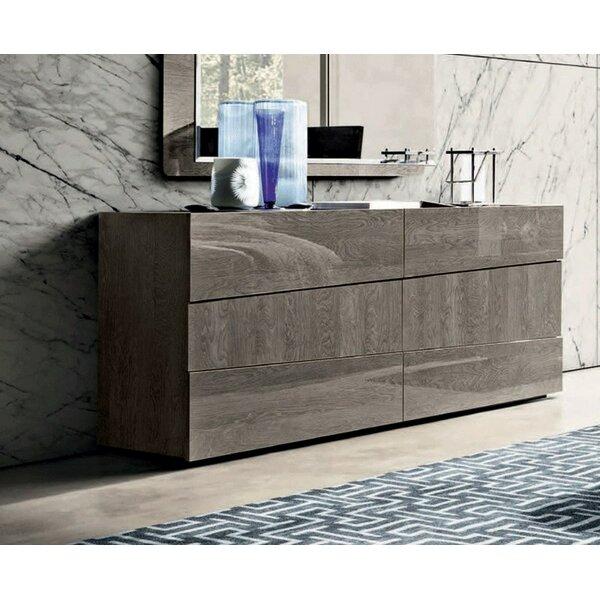Dann Modern Style 6 Drawer Double Dresser by Brayden Studio