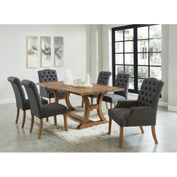 Grider 7 Piece Solid Wood Dining Set by Gracie Oaks