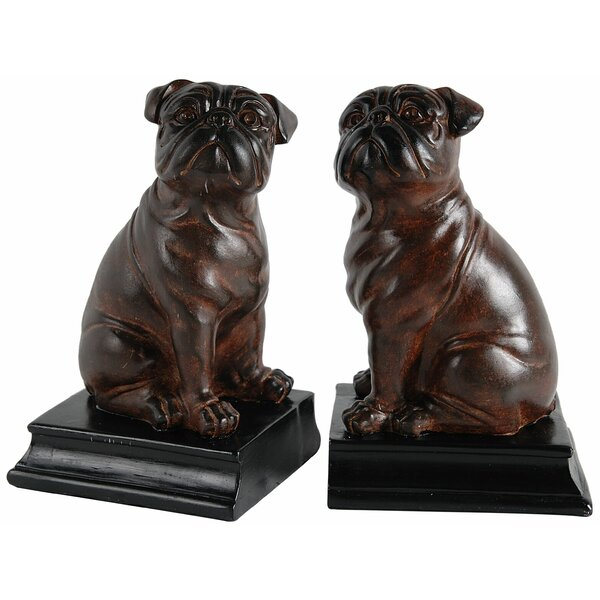 Bull Dog Book Ends (Set of 2) by Three Posts