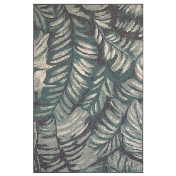 Mario Palm Teal Indoor/Outdoor Area Rug by Bay Isle Home