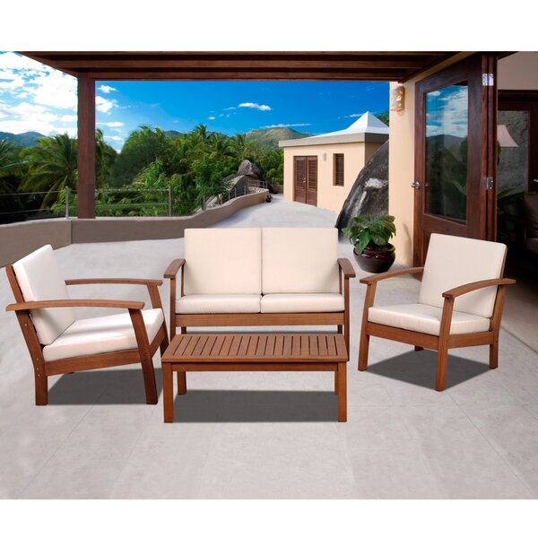 Oppelo 4 Piece Sofa Seating Group with Cushions by Bay Isle Home
