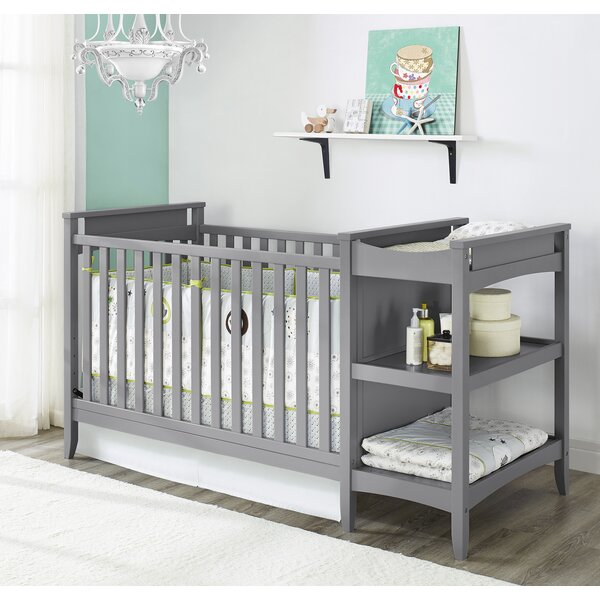 Emma 2 in 1 Convertible Crib with Changing Table