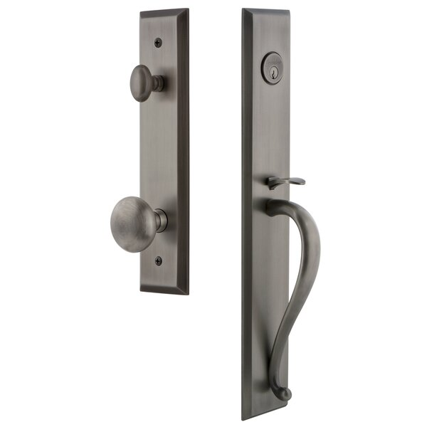 Fifth Avenue S Grip Dummy Handleset with Interior Knob by Grandeur