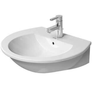 Darling New Ceramic 24 Wall Mount Bathroom Sink with Overflow Duravit
