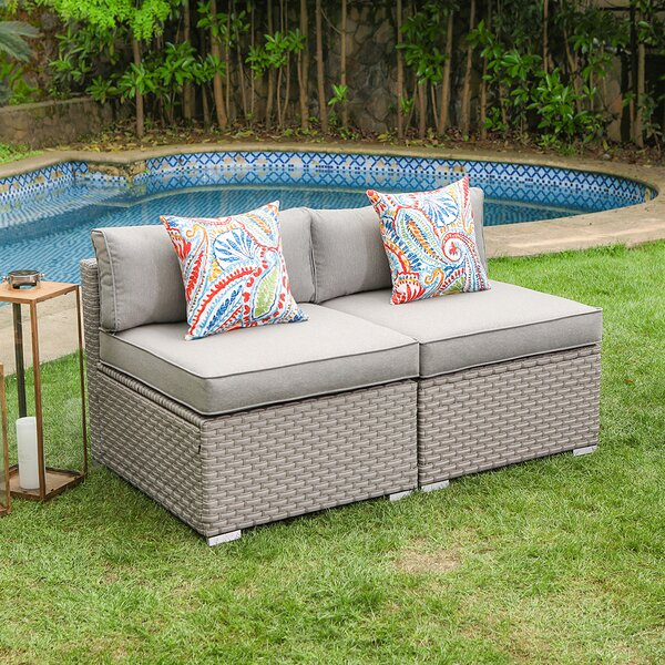 Gotthard Loveseat with Cushions by Wrought Studio