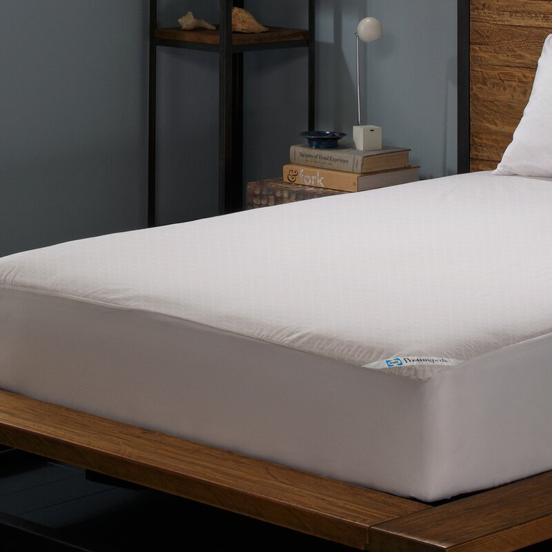 Zippered Mattress Protector Throughout Posturepedic Allergy Zippered Hypoallergenic Waterproof Mattress Protector Sealy