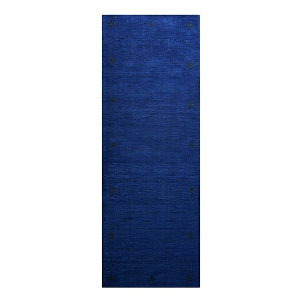 St Catherine Hand-Knotted Wool Blue Area Rug by Millwood Pines