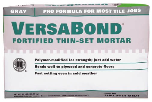 VersaBond Fortified Thin-Set Mortar by Custom Building Products