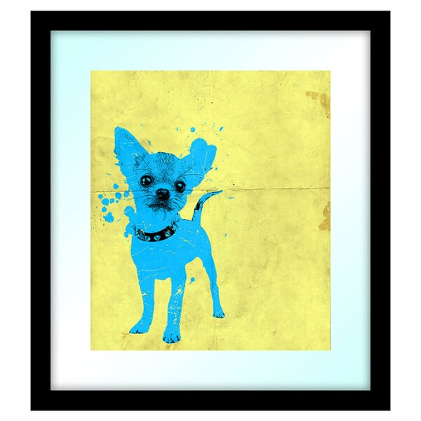 Pop Chihuahua Framed Painting Print by PTM