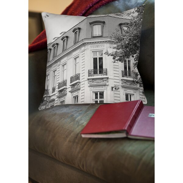 A Travers Paris II Printed Throw Pillow by Manual Woodworkers & Weavers