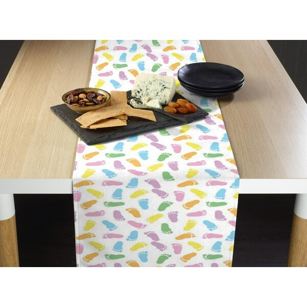 Emert Baby Foot Prints Table Runner by The Holiday Aisle
