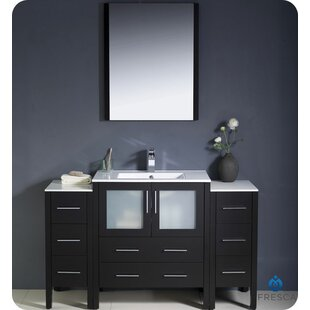 Save. Fresca. Torino 54  Single Bathroom Vanity Set with Mirror & Mirrored Bathroom Vanities Youu0027ll Love | Wayfair