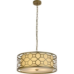 Keiper 1-Light Drum Pendant By House of Hampton