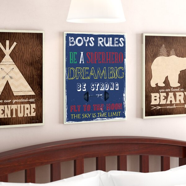 Paxson Boys Rules the Sky Is the Limit Wall Plaque by Harriet Bee