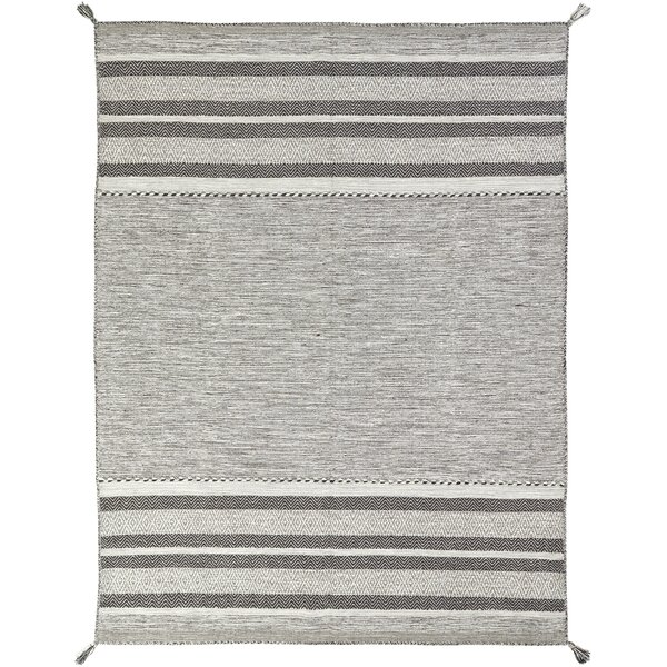 Phillipston Granite Hand-Knotted Cotton Gray Area Rug by Union Rustic