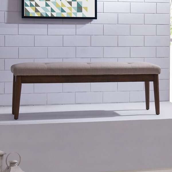 Wardle Upholstered Wood Bench by George Oliver