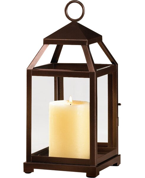 Contemporary Iron Lantern by Three Posts