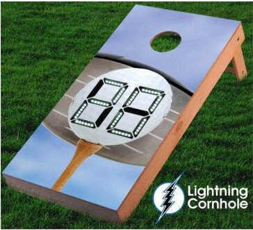 Electronic Scoring Golf Ball Cornhole Board by Lightning Cornhole
