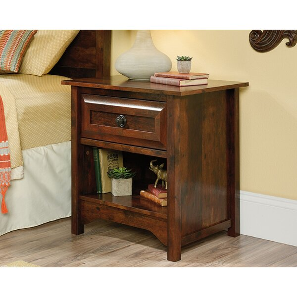 Hartington 1 Drawer Nightstand by Loon Peak