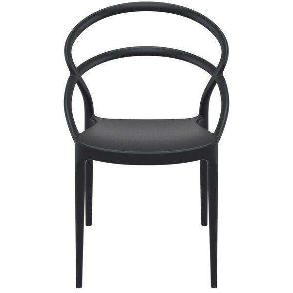 Holliston Stacking Patio Dining Chair (Set of 2) by Wrought Studio