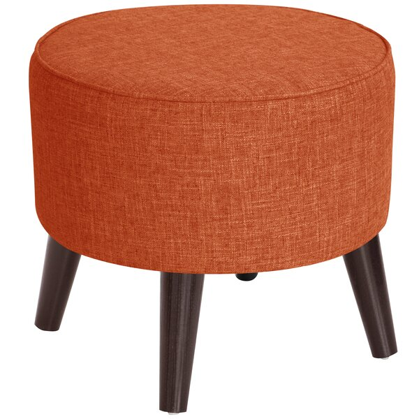Ciccone Round Splayed Legs Ottoman by George Oliver