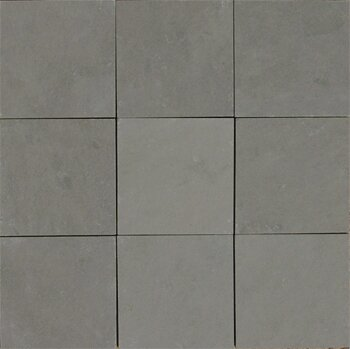Pewter 4 x 4 Slate Field Tile in Gray by The Bella Collection