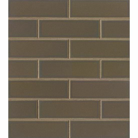 Reverie 2 x 6 Porcelain Subway Tile in Brown by Grayson Martin