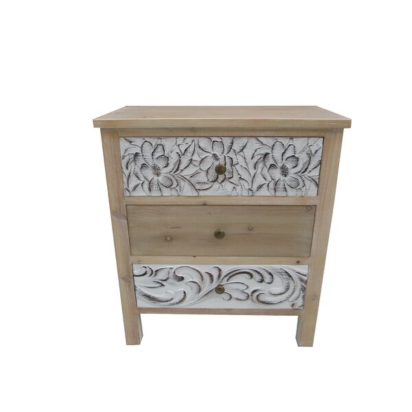 Boyabat 3 Drawer Accent Cabinet by Bungalow Rose Bungalow Rose