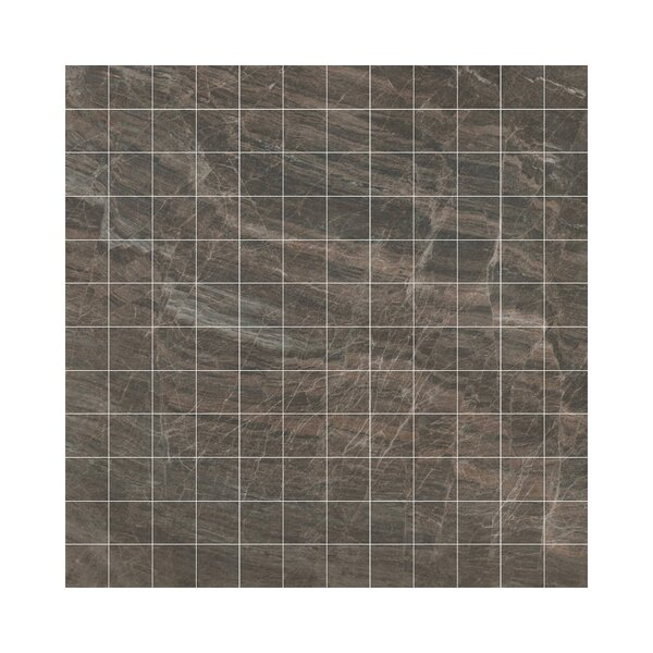 Anthology Porcelain Mosaic Tile in Glazed Brown by Samson