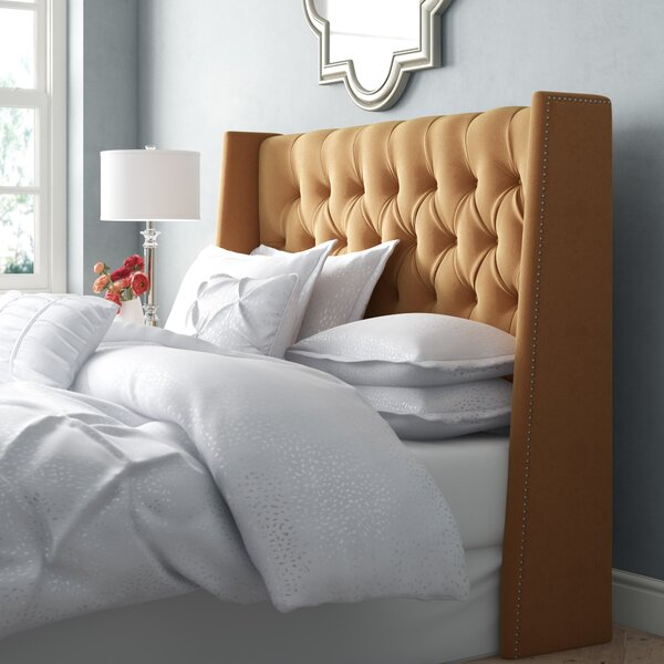 Brunella Nail Button Tufted Upholstered Wingback Headboard by Willa Arlo Interiors