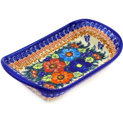 Polish Pottery 10 Rectangle Platter by Polmedia